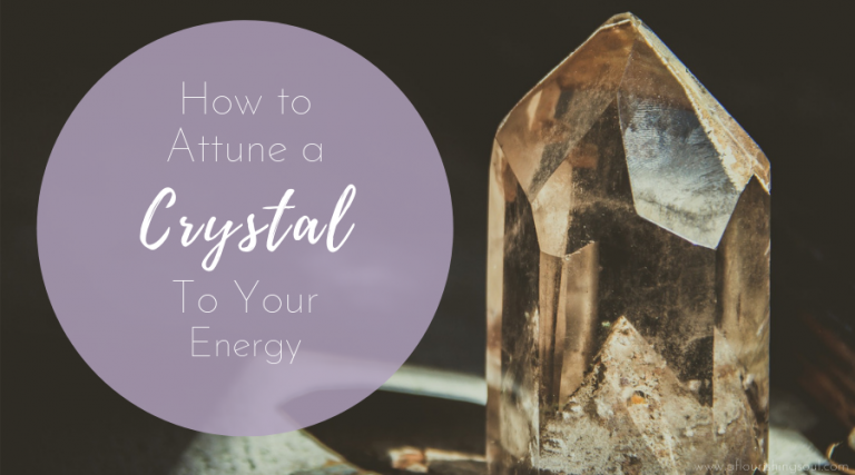 Crystal healing is more powerful and effective when using a crystal attuned to your energy. Check out this post for three easy ways to form a connection with a new crystal #crystal #crystalhealing #energywork @spiritualwellness #metaphysical