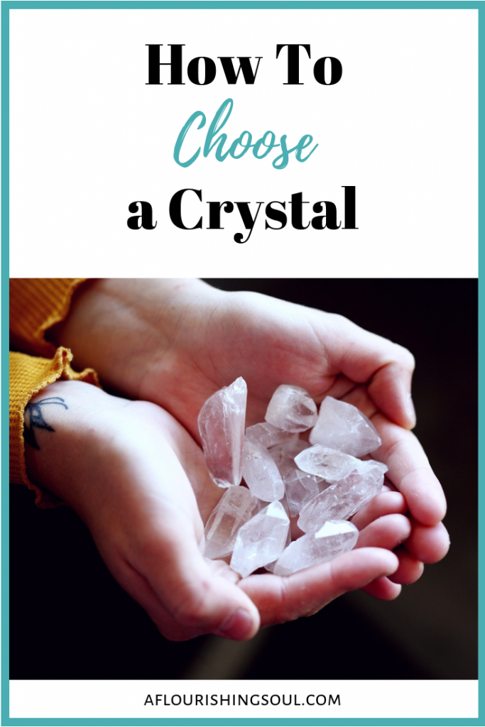 Choosing a crystal can seem difficult, but it doesn't have to be! Check out this post on how to choose a crystal that resonates with your energy! #crystal #crystalhealing #spiritualhealing