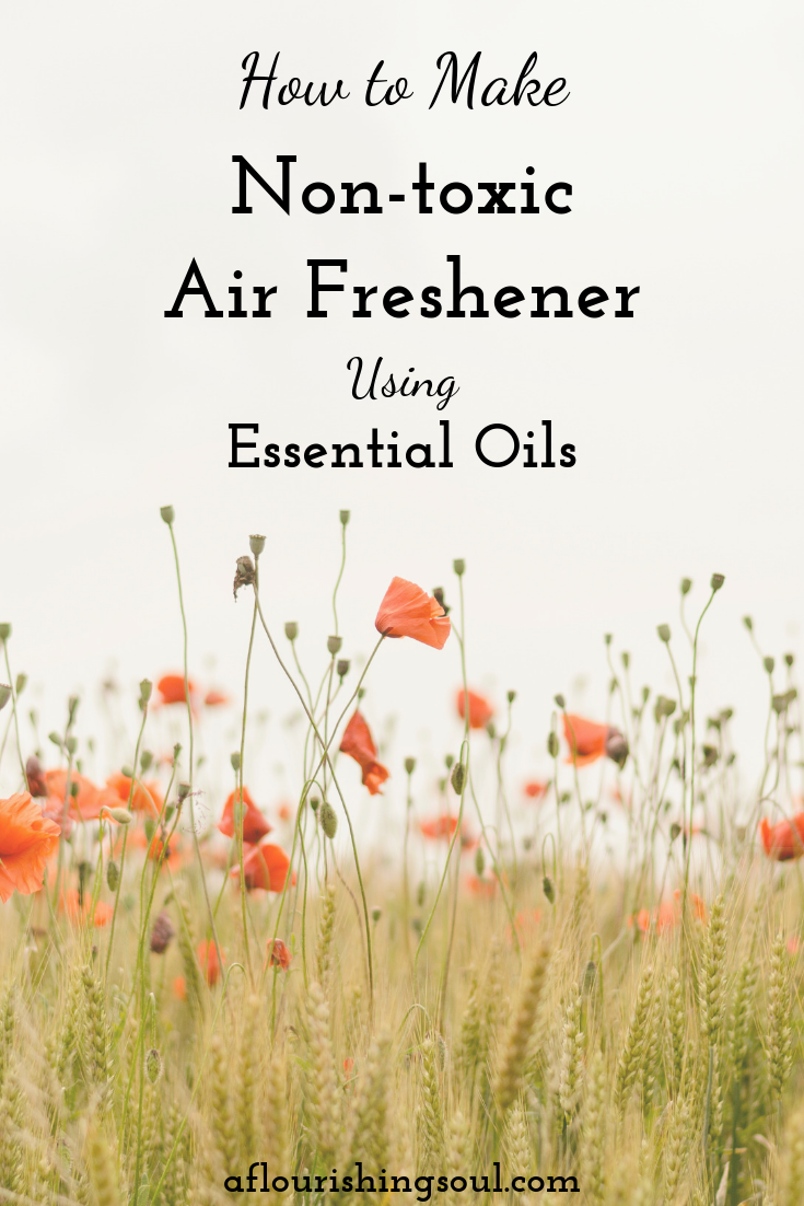 Store bought air freshener is full of chemicals and toxins. When you DIY air freshener, you know exactly what's in it. Check out this post for a step-by-step guide to making your own non-toxic room spray with essential oils. Also includes three ideas for essential oil fragrance blends! #nontoxic #naturalhome #natural #essentialoils