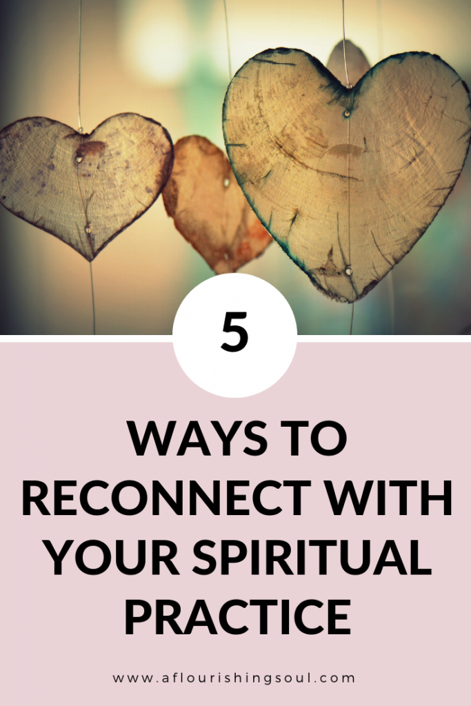 Are you experiencing spiritual burnout? Check out this post to learn five ways to reconnect with your spiritual practice and overcome a spiritual block #spiritualwellness #spiritualpractice #spirituality | A Flourishing Soul