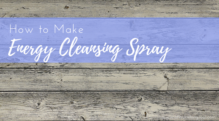 Sometimes smoke cleansing isn't an option. Read this blog post to learn how to make energy clearing room spray for smoke free cleansing #energycleansing #roomcleansing #spiritualwellness | A Flourishing Soul