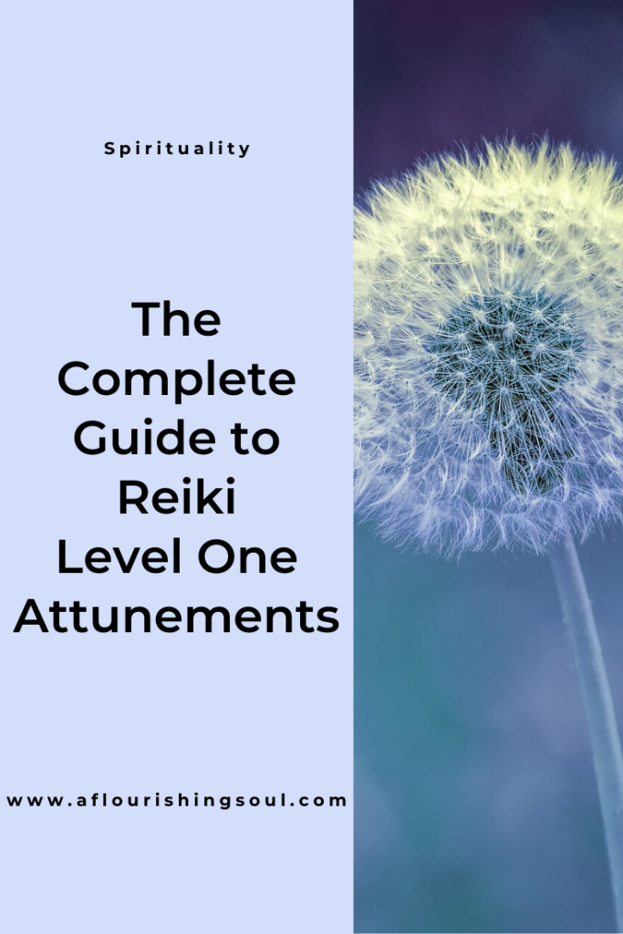 Considering a reiki level one attunement? Read this post to learn what to expect from a reiki level one attunement and how to get started on your reiki journey! #reiki #energywork #spirituality #aflourishingsoul